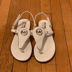 Size 8 White MK Sandal